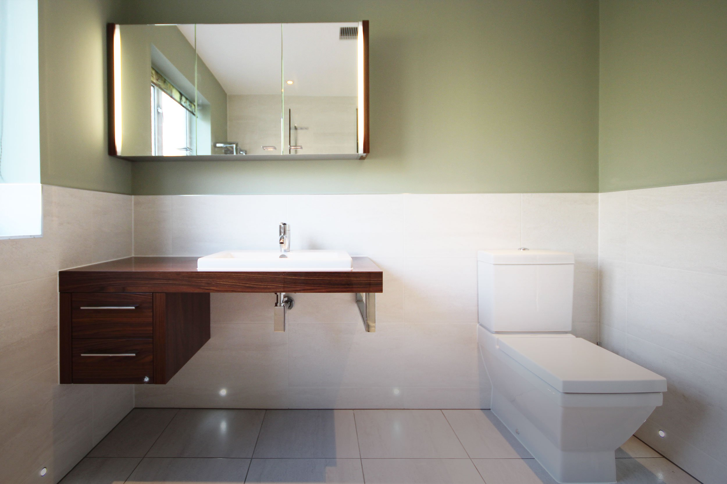 Master ensuite refurbished with top spec sanitaryware